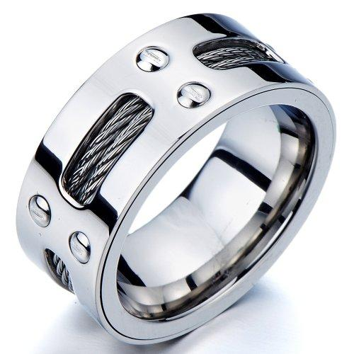 Man S Stainless Steel 10mm Wedding Ring Online Shopping In Pakistan