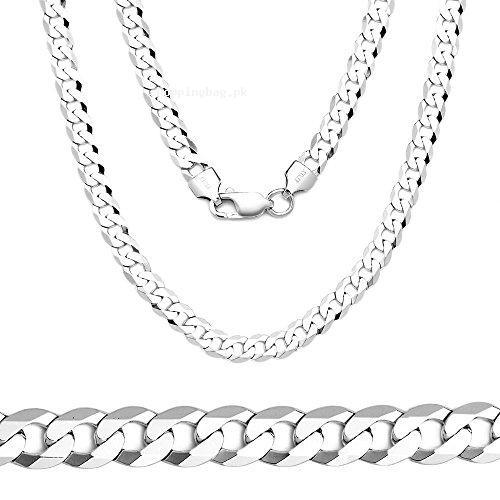 74de7be045915 Men Sterling Silver Chain Necklace Made in Italy Price in Pakistan