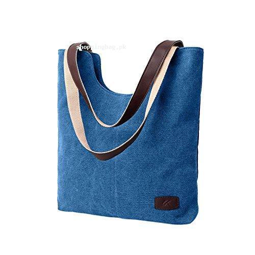SELECTIA Cotton Canvas Shoulder Bag