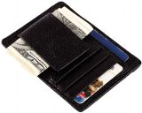 JINBAOLAI Men's Leather Money Clip Front Pocket Wallet with Magnetic Clip and Card ID Case