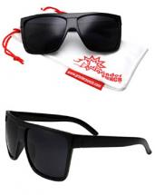 Dark Rectangular Flat Sunglasses