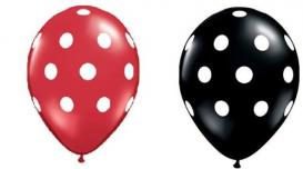 Red and Black Polka Dots Balloons