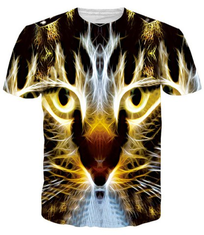 Men Gleamy 3D Tiger …