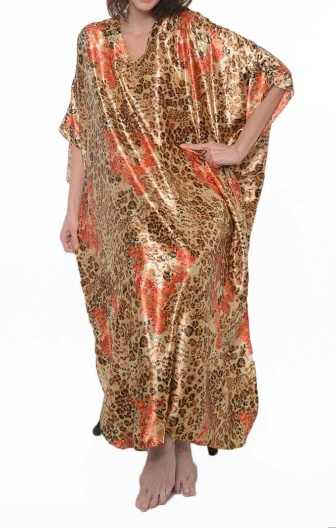Caftan in cheetah pr…