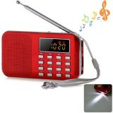 Red Portable Mini Multifunctional Digital LCD Display MP3 FM Radio