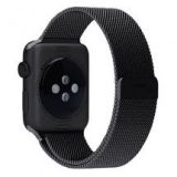 Penom Mesh Loop Magnetic Closure Apple Smart Watch Band in Stainless Steel