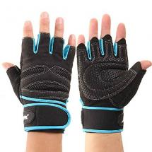 Coromose Durable Blue Weight Lifting Training Workout Sports Gloves