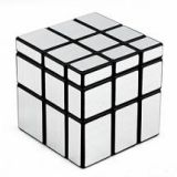 Mirror Cube 3x3 Speed Cube Puzzle Silver Black
