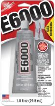 E6000 Adhesive with 3 precision tips plus a precision tip cap