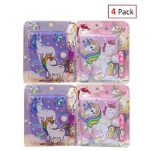 EIXJA 4 Pack Unicorn Notepad and Pen Set