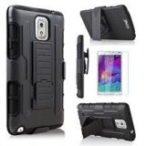 Starshop Samsung Galaxy Note 3 Dual Layer Holster Case With Screen Protector