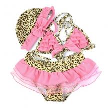 Girl Cream Brown Leopard Ruffle Tutu Lac