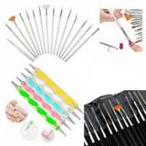 Glam Hobby 20pc Nail Art Painting and Dotting Tool Set