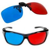 GTMax 2x Red and Cyan Glasses for 3D Movies, Gaming and TV 1x Clip On