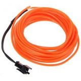 ILLUMENG Led Neon Glow Rope Tube Cable Light (orange, 5M)