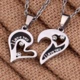 I Love you Stainless Steel Pendant Necklace