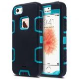iPhone 5 Heavy Duty Drop Resistant Shockproof Case (Blue/Black)