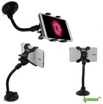 Ipow Universal Long Arm/neck 360 Degree Rotation Windshield Car Mount Cradle Holder System for Cell Phones