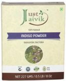 Just Jaivik Indigo Hair Color Powder Indigofera Tictoria to Color hair dark brown to black