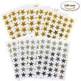 Kenkio Gold Silver 3500 Count Star Stickers
