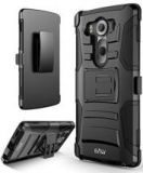 LG V10 Dual Layer Armor Case with Belt Swivel Clip
