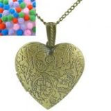 Love Heart Necklace with Locket Picture
