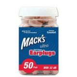 Mack Ultra Soft Earplugs 50 Pair