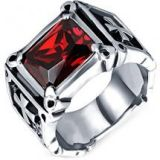MENSO Men's Dragon Claw Cross Ring
