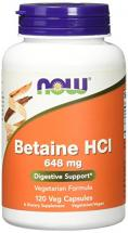 NOW Betaine HCl 648 …