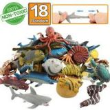 Rubber Bath Toy Set (18 Ocean Sea Animal Set)