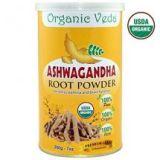 Organic Ashwagandha Root Powder by Organic Veda