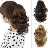 PRETTYSHOP Hair Extension Straight Light Curled medium Brow