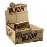Raw Rolling Papers Perforated Wide Cotton Filter Tips (50 Tips Per Pack)