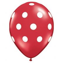 Red Polka Dots Latex Balloons
