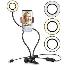 UBeesize Flexible Selfie Ring Light with Cell Phone Holder Stand