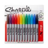 Sharpie 12-Pack Fine Point Permanent Markers