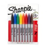 Sharpie Permanent Markers Find Point Pack of 8