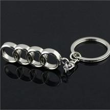 Audi Silver Alloy Car Logo Key Chain