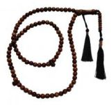 Shiny 6mm Iron Wood Beads Tesbih with Copper on Tassels