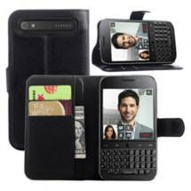Fettion BlackBerry Classic Q20 Leather Ultra Slim Wallet Case