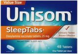 Unisom Night Sleep Tabs 48 Tablets