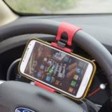 Wooku Car Steering Mobile Phone Holder for iPhone, Samsung Galaxy