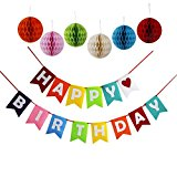 Happy Birthday Decorations Banner With Set