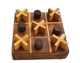 StarZebra Handmade Popular Wooden Tic Tac Toe Board