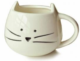 Moyishi Cute White Cat Coffee Mug
